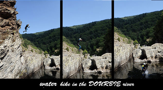 Canyoning in the Dourbie river