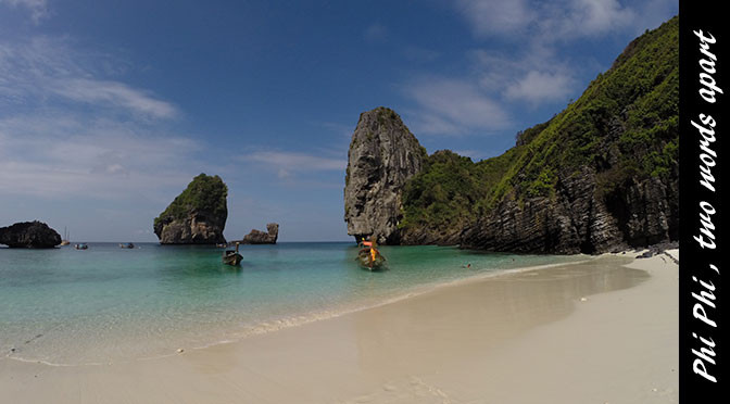 Phi Phi, two worlds apart