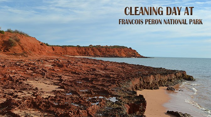 Cleaning day at François Péron NP