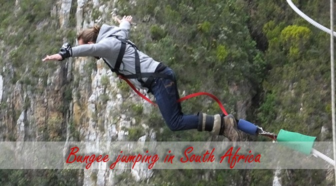Bungee jumping at Bloukrans Bridge